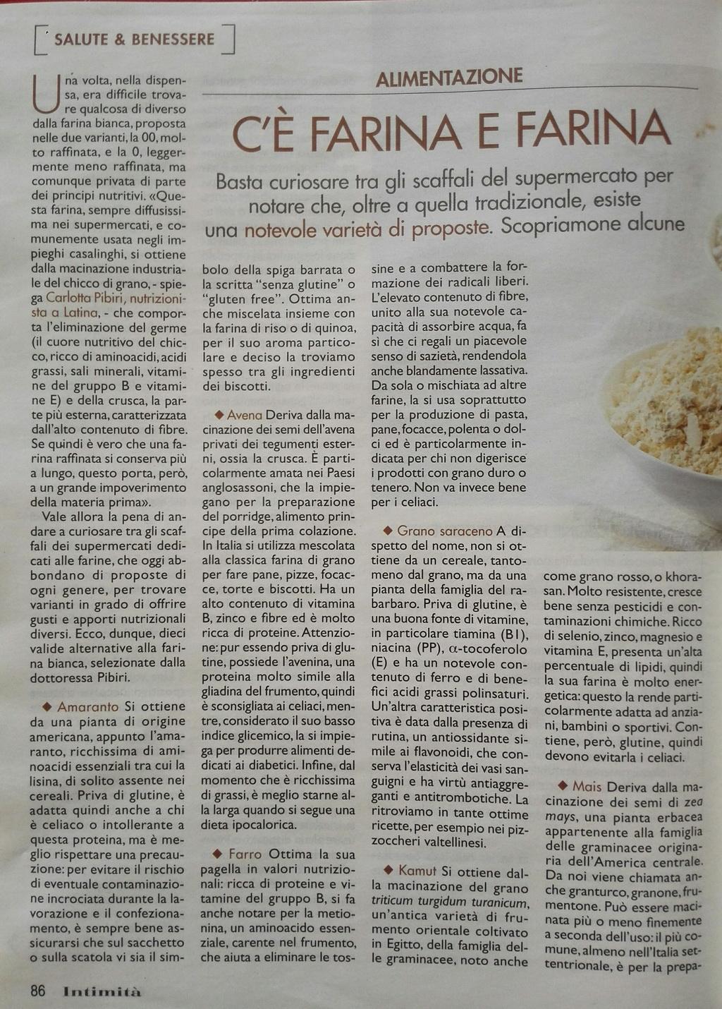 alimentazione farine nutrizionista dietista a Latina